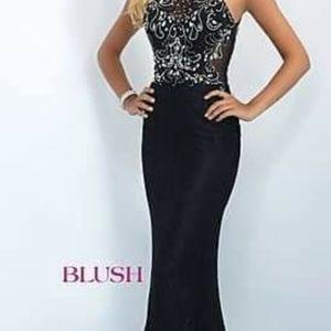Black evening prom dress size 4